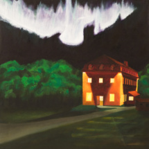 St. Norbert Lights | Acrylic on canvas | 1997